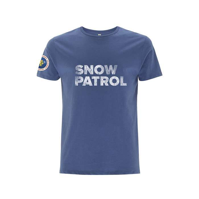Nasa Worn Logo -  Denim Blue Tee - Snow Patrol
