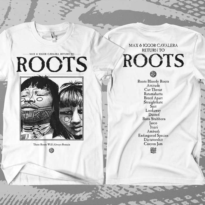 Return to Roots - 'Tracks' (White) T-Shirt - Soulfly