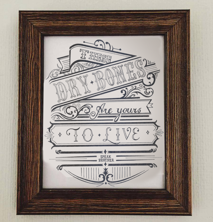 'These Dry Bones' Lyric Print - Official Speak, Brother Merchandise, Downloads and Tickets