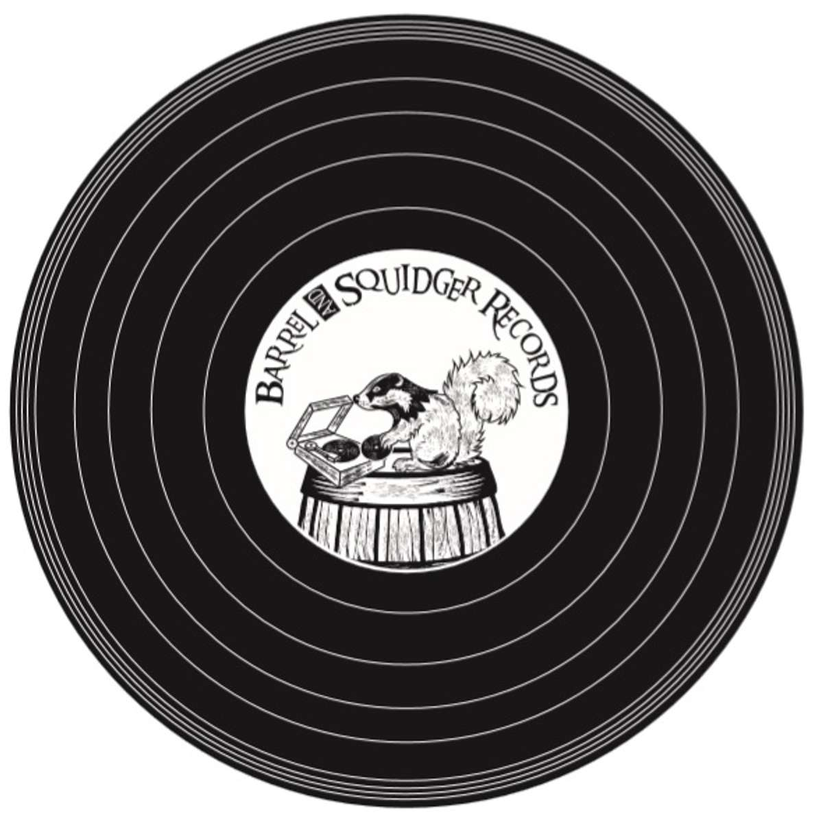 Barrel And Squidger Records - LP-sized Tote Bag - Barrel And Squidger Records