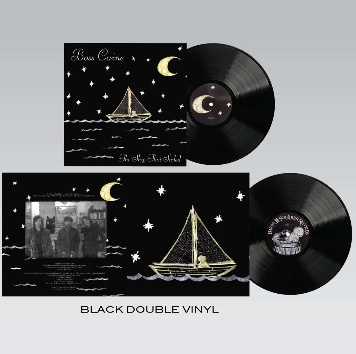 Boss Caine - The Ship That Sailed - Double Black Vinyl LP - Barrel And Squidger Records