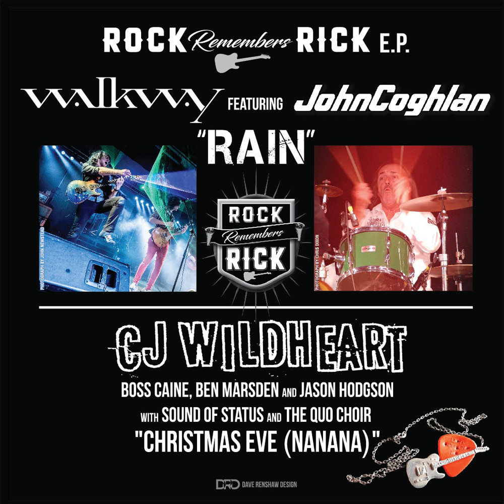 """Rock Remembers Rick Parfitt EP - 3-track 7"""" vinyl - Barrel And Squidger Records"""