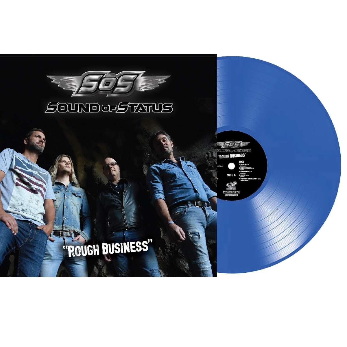 Sound Of Status - Rough Business - BLUE vinyl LP - Barrel And Squidger Records