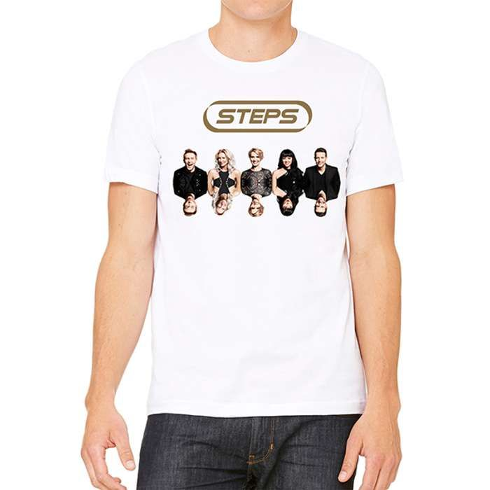 Steps Album Date Back White T-Shirt - Steps [Global UK]