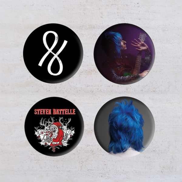Badge Pack [4 designs] - Steven Battelle