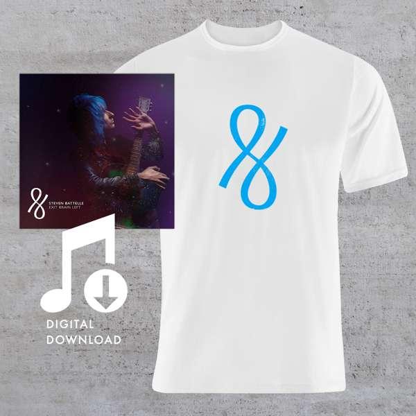Exit Brain Left - Digital Download + White T Shirt Bundle - Steven Battelle