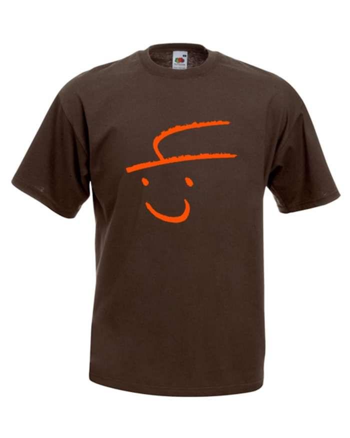 Ltd Edition - Logo/Signed Tee Shirt (Brown+Orange) - Steve Young