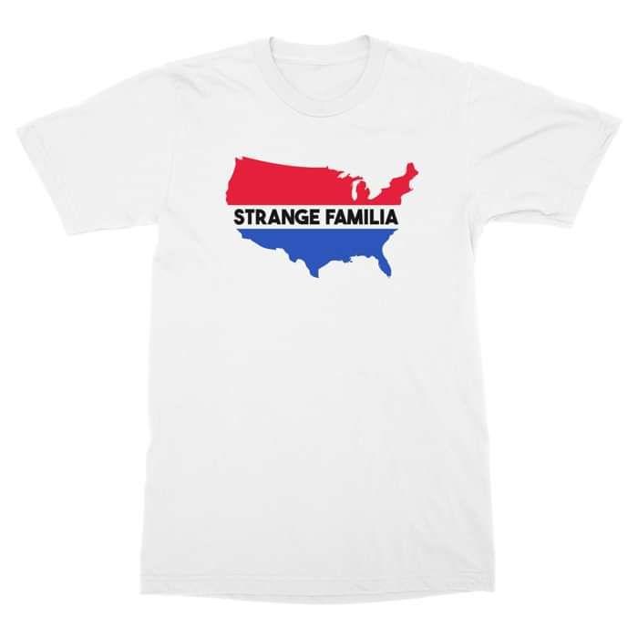 USA - White T - Strange Familia