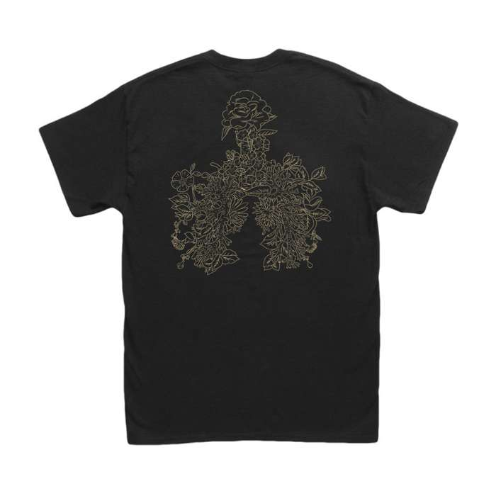 'Lungs' T-Shirt Black (Unisex) - Sun Arcana