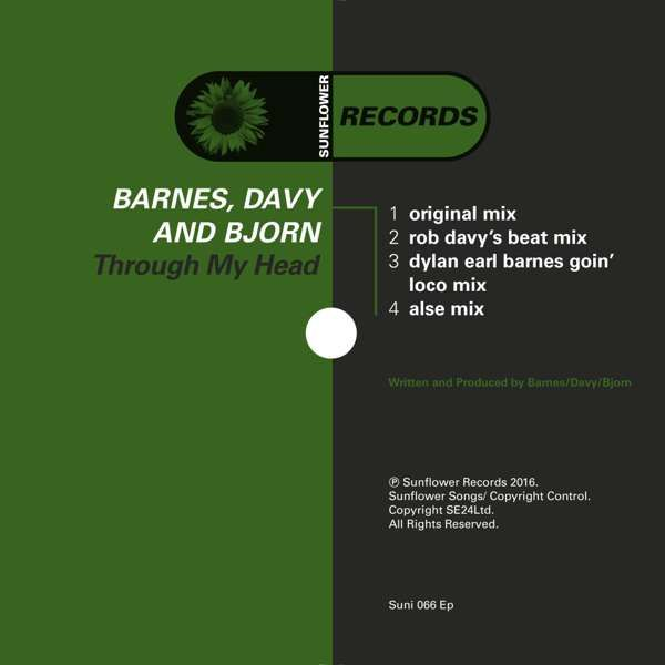 Barnes, Davy and Bjorn - Through My Head (MP3S) (SUNI066) - Sunflower Records