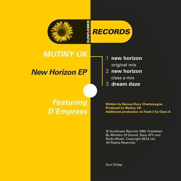 Mutiny UK (feat. D-Empress) - New Horizon [SUNI013] - Sunflower Records
