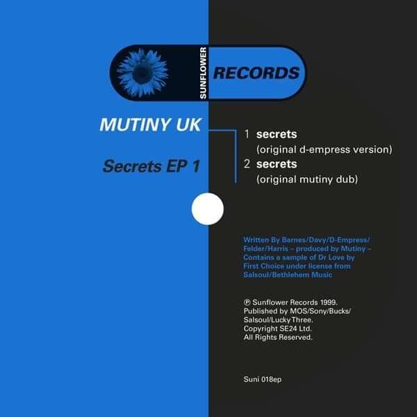 Mutiny UK - Secrets 1 [SUNI018] - Sunflower Records