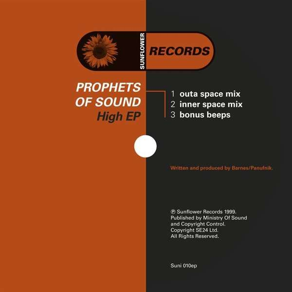 Prophets of Sound - High [SUNI010 - White Labels] - Sunflower Records
