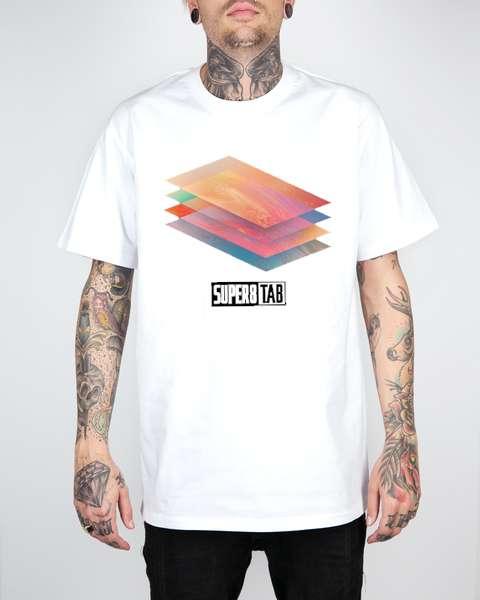 LIMITED EDITION White Super8 & Tab 'Reformation' T-Shirt - Super8 & Tab