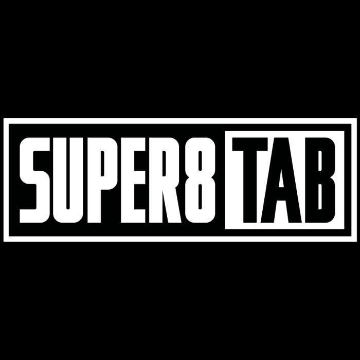 Matt Vinyl Super8 & Tab Logo Sticker - Super8 & Tab