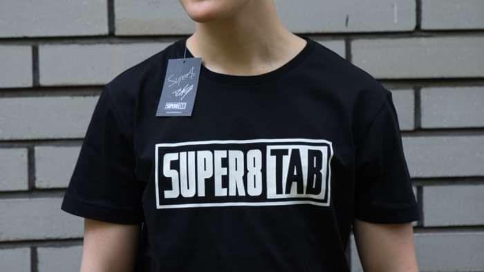 Super8 & Tab Black Logo T-Shirt 2019 edition - Super8 & Tab