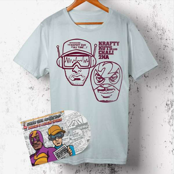 Adventures Of A Reluctant Superhero (CD + T-shirt Bundle) - Chali 2na & Krafty Kuts