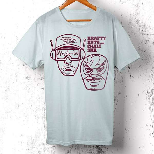 Adventures Of A Reluctant Superhero (T-Shirt) - Chali 2na & Krafty Kuts
