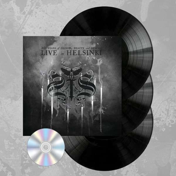 Swallow The Sun - '20 Years of Gloom Beauty and Despair - Live in Helsinki' Gatefold Black 3LP+DVD - Swallow The Sun