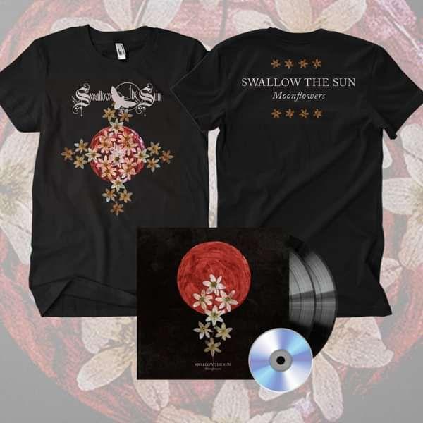 Swallow The Sun - 'Moonflowers' Gatefold Black 2LP+CD & T-Shirt Bundle - Swallow The Sun