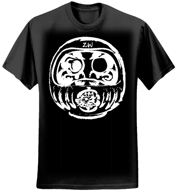 """Zashiki Warashi """"Daruma"""" T-Shirts, black/white - Zashiki Warashi"""