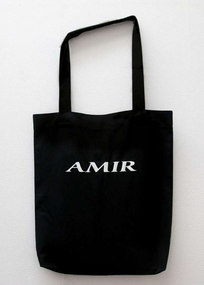 Totebag with White Embroidery - Tamino