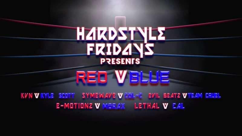 Hardstyle Fridays Presents Red v Blue (Room 2) at Temple