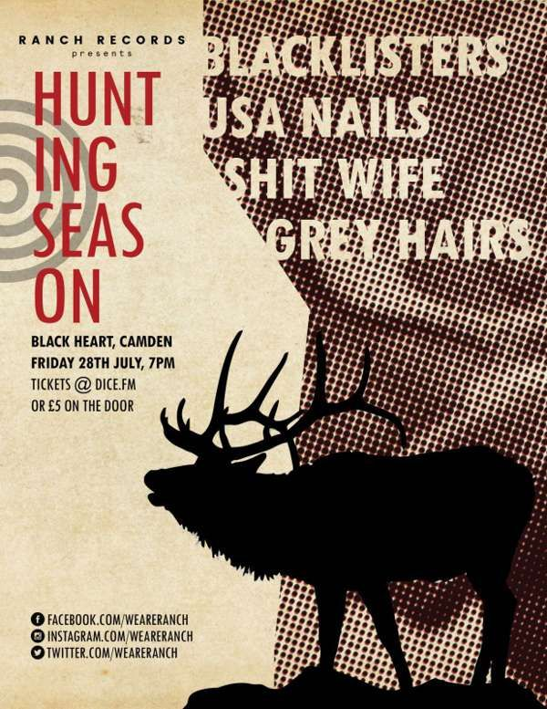 The Hunting Season at The Black Heart, London on 28 Jul 2017