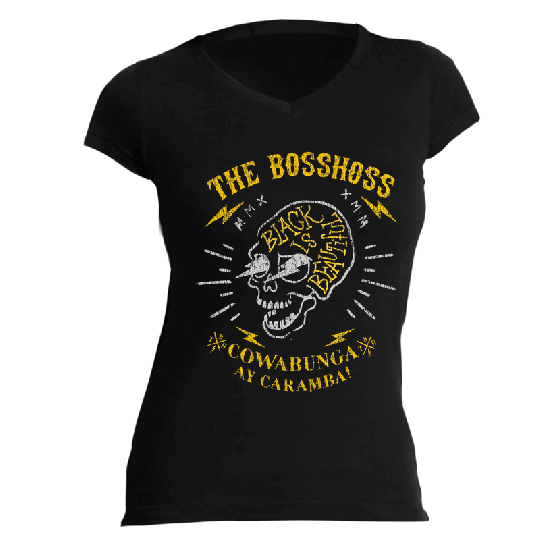 THE BOSSHOSS GIRLIE T-SHIRT - COWABUNGA - The Boss Hoss Merchandise