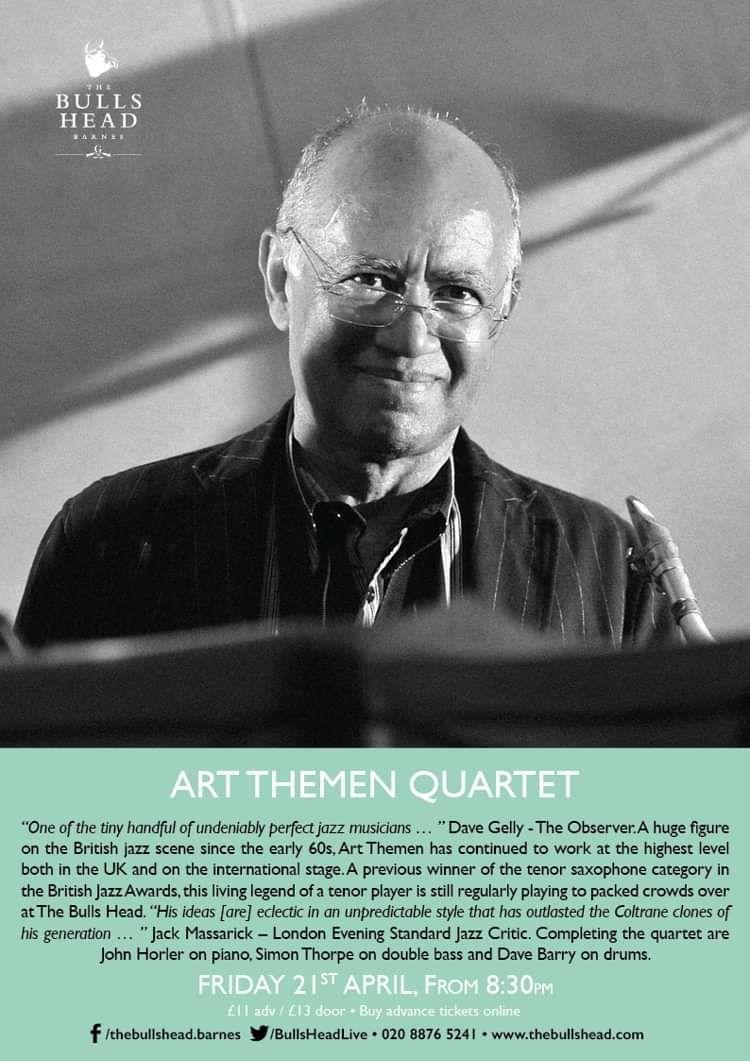 Art Themen Quartet at Bulls Head Barnes, London on 21 Apr 2017