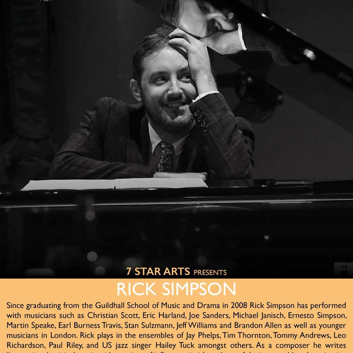 Rick Simpson Jazz Piano at Bulls Head Barnes, London on 26 ...