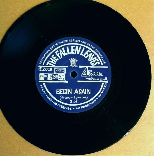 "Begin Again - 7"" Vinyl Single - The Fallen Leaves"