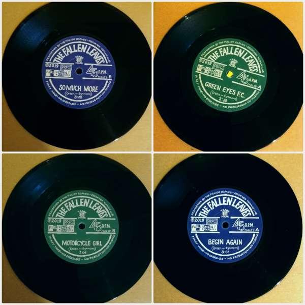 """Green Eyes F.C. + Begin Again  -  Bundle of 2 X 7""""  Vinyl Singles - The Fallen Leaves"""