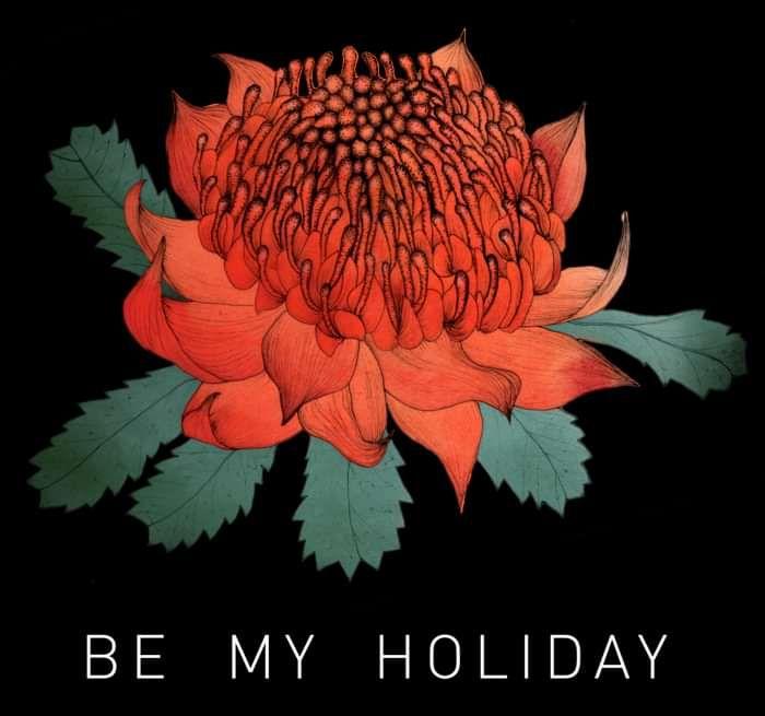 'Be My Holiday' Waratah black t-shirt - The Jezabels US