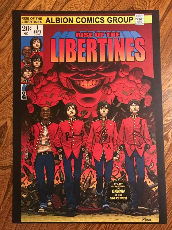 Limited edition SIGNED print. - The Libertines