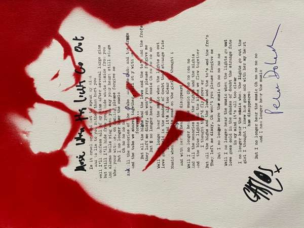 Music When The Lights Go Out Lyric Sheet No.2 *Signed* - The Libertines