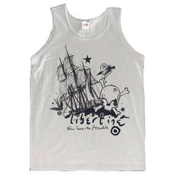 SALE !!! From Here to Arcadia White Vest - The Libertines