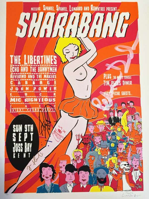 SALE!!! SIGNED Limited Edition A1 Sharabang Screen Print - The Libertines