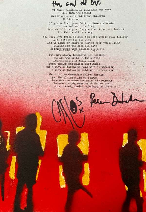 The Good Old Days Lyric Sheet No.1 *Signed* - The Libertines