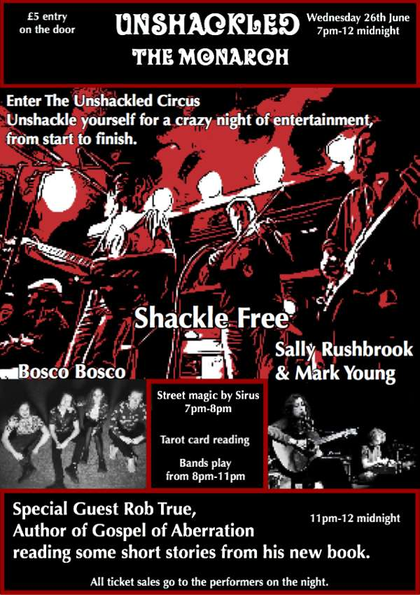 SHACKLE FREE at The Monarch, London on 26 Jun 2019