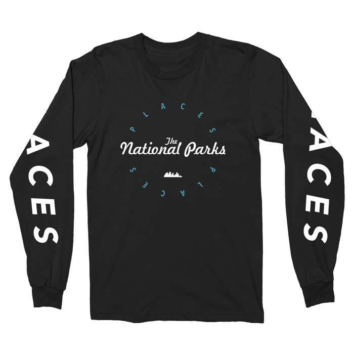 Places - Black tee (Long Sleeve) - The National Parks
