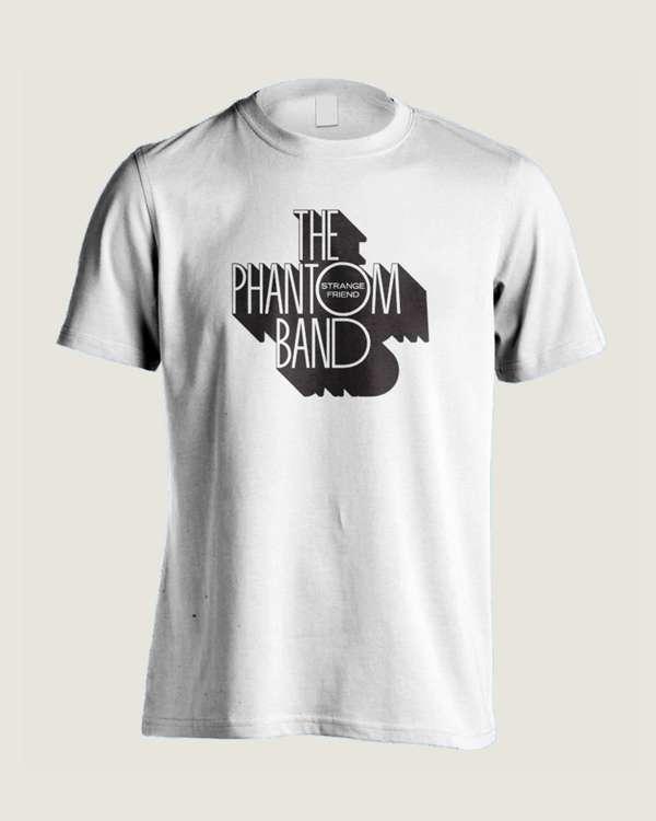 THE PHANTOM BAND LOGO T SHIRT (WHITE) - The Phantom Band