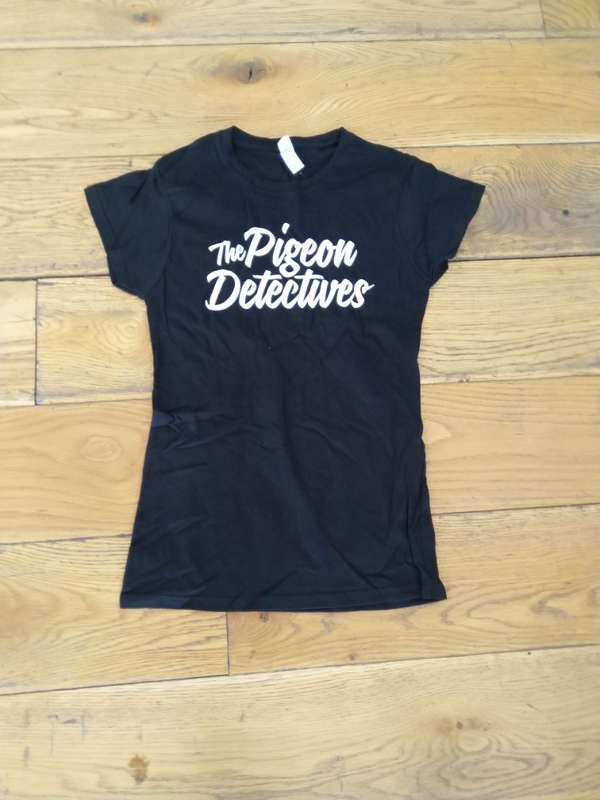 Ladies Black Logo T-Shirt - The Pigeon Detectives
