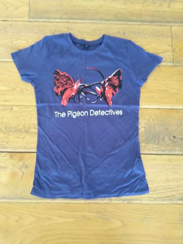 Wait for Me - Blue Ladies T-Shirt - The Pigeon Detectives