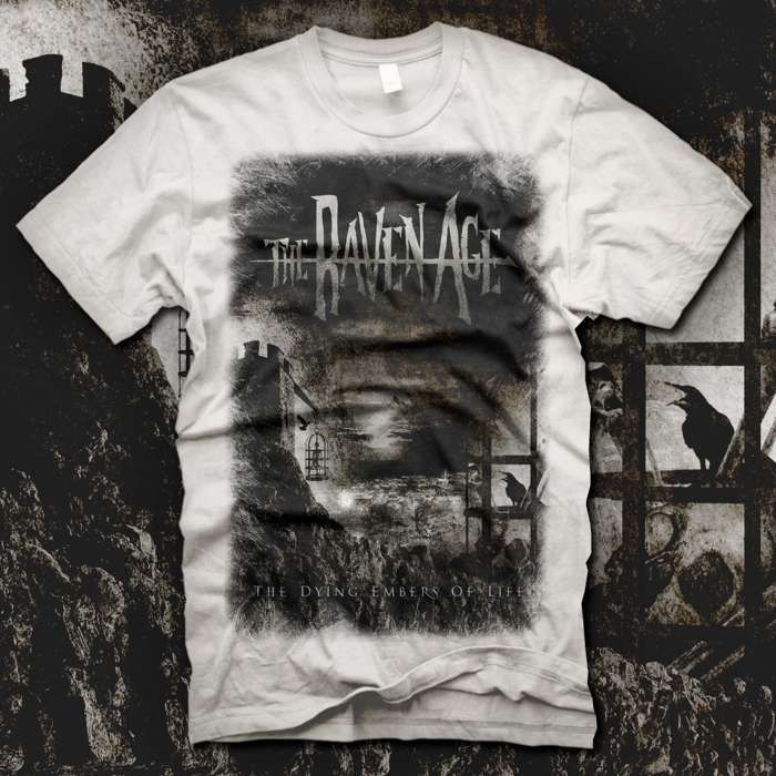The Dying Embers of Life - T-shirt White - The Raven Age