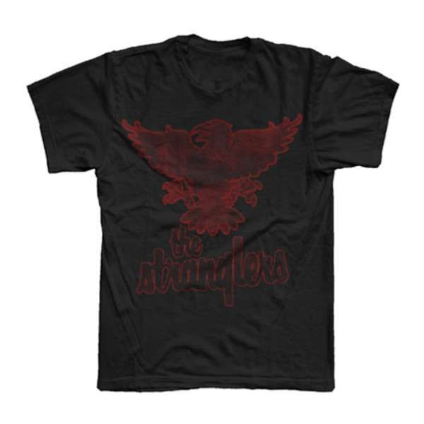 Black Distressed Raven T-Shirt - The Stranglers