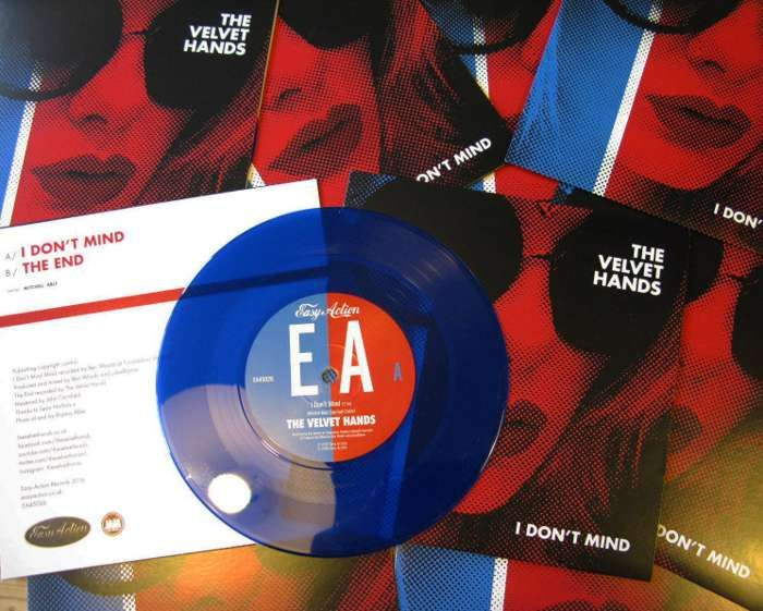 "I DON'T MIND - 7"" BLUE VINYL - The Velvet Hands"