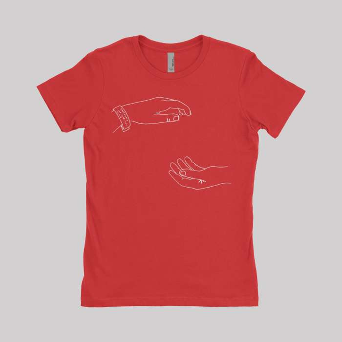 Hospice 10 Year Anniversary Tour T-Shirt Women's Red - The Antlers