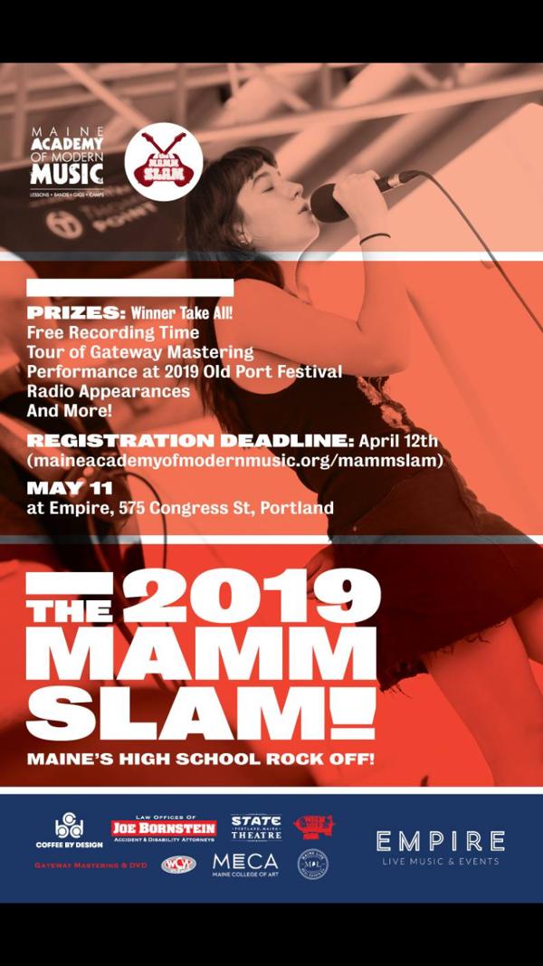 2019 Maine Academy of Modern Music MAMM SLAM at Empire Live