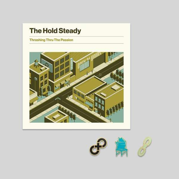 Album +  Enamel Pin Set (3 Limited Edition Pins) Bundle - The Hold Steady
